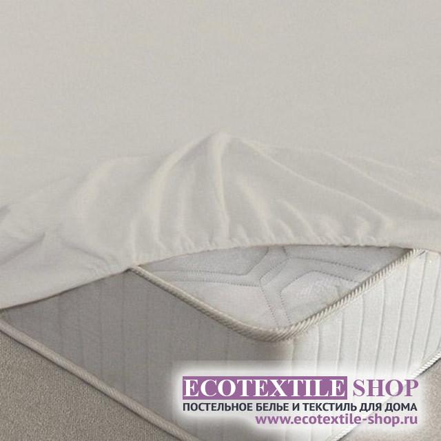 Простыня Ecotex махровая молочная на резинке (размер 140х200 см)