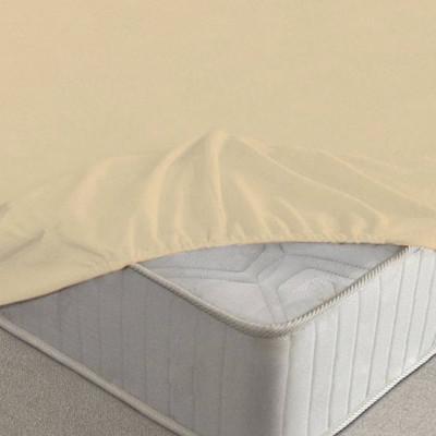Простыня Ecotex махровая персиковая на резинке (размер 200х200 см)