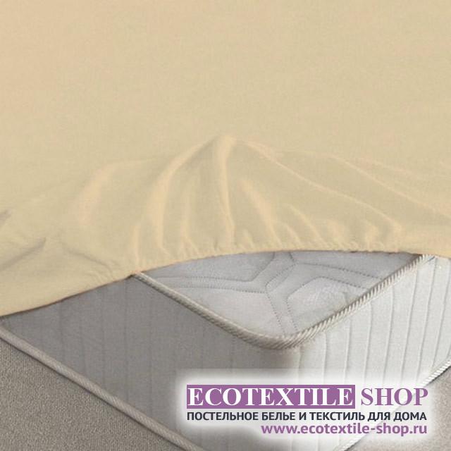 Простыня Ecotex махровая персиковая на резинке (размер 180х200 см)