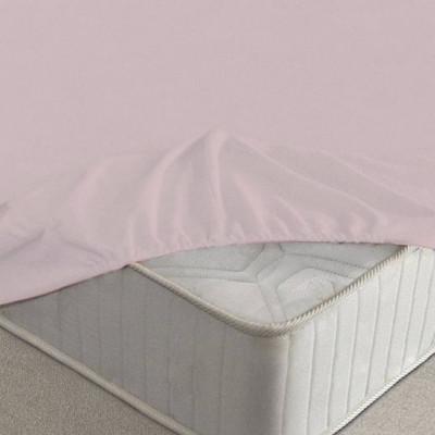 Простыня Ecotex махровая розовая на резинке (размер 200х200 см)