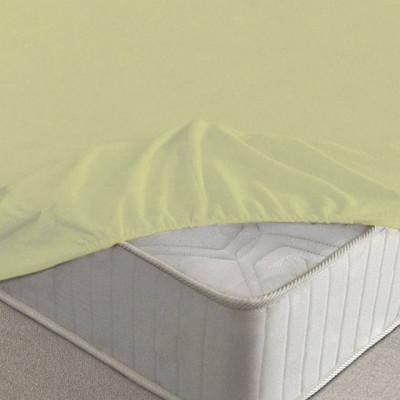 Простыня Ecotex махровая салатовая на резинке (размер 160х200 см)