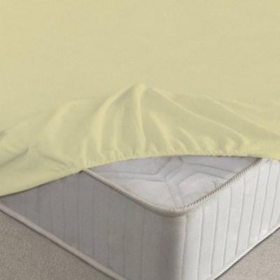 Простыня Ecotex махровая жёлтая на резинке (размер 90х200 см)