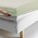 Простыня Ecotex поплин ментоловая на резинке (размер 140х200 см)
