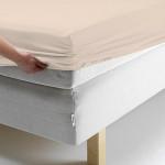 Простыня Ecotex поплин персиковая на резинке (размер 160х200 см)