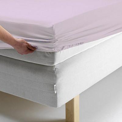 Простыня Ecotex поплин сиреневая на резинке (размер 140х200 см)