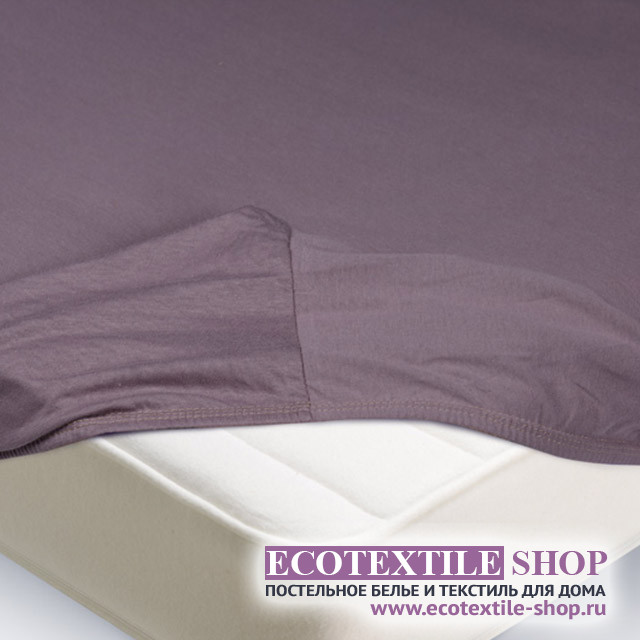 Простыня Ecotex трикотаж бузина на резинке (размер 160х200 см)