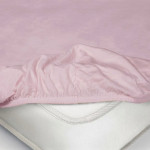 Простыня Ecotex трикотаж фиолетовая на резинке (размер 160х200 см)