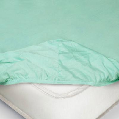 Простыня Ecotex трикотаж ментоловая на резинке (размер 160х200 см)
