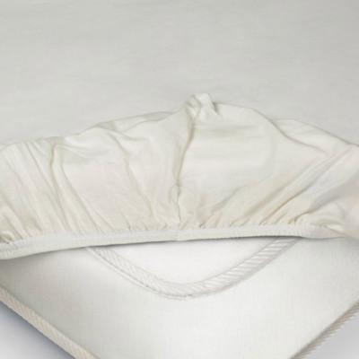 Простыня Ecotex трикотаж молочная на резинке (размер 180х200 см)