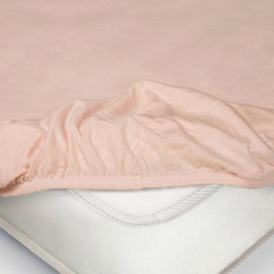 Простыня Ecotex трикотаж розовая на резинке (размер 140х200 см)