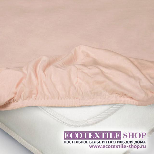 Простыня Ecotex трикотаж розовая на резинке (размер 180х200 см)