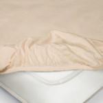 Простыня Ecotex трикотаж чайная роза на резинке (размер 160х200 см)