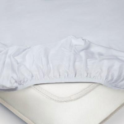Простыня Ecotex трикотаж белая на резинке (размер 90х200 см)