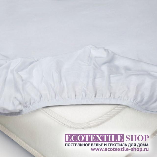 Простыня Ecotex трикотаж белая на резинке (размер 180х200 см)